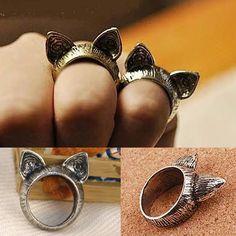 2015 Fahion chat Vintage anneaux pour les femmes animaux oreille Payty de mariage bandes belle alliage de Zinc anneaux B4R7C dans Bagues de Bijoux sur AliExpress.com | Alibaba Group