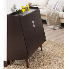 Furniture of America Trapezy Walnut Multi-purpose Storage Cabinet | Overstock.com Shopping - Great Deals on Furniture of America Media/Books...