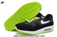 2013 Black Green Online 2014 Mens Nike Air Max 1 87 Running Shoes Free Running Shoes
