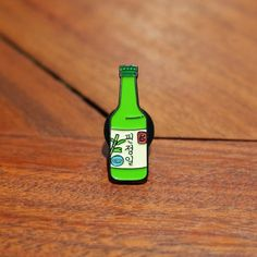 AmazonSmile: Soju Bottle Lapel Pin - Enamel Hat Hip Hop Streetwear Fashion Accessory, Original Art Design