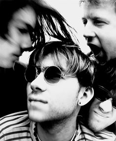 "Photographer Matt Anker recalls, ""At the time of shooting this assignment, Blur (Damon Albarn, Graham Coxon, Alex James, Dave Rowntree) were one of many 'indie' bands. Little did we know how successful they would be. With this shot I thought try the..."