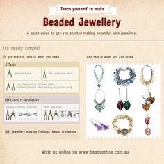 Infographic - Teach yourself how to make beaded Jewellery