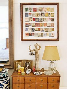 a new way to display matchbook collection- cool idea for showing places you've traveled