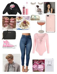 """""""Sweden shopping day!🛍🛍"""" by miss-lelee-swagg ❤ liked on Polyvore featuring Victoria's Secret, Converse, Charlotte Russe, MICHAEL Michael Kors and Schott Zwiesel"""
