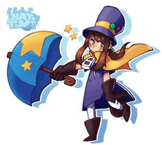 Black Hat Meets Hat Kid by Yojama on DeviantArt Fun Police, Jobs In Art, A Hat In Time, Time Games, Indie Games, Girl With Hat, Headgear, Cartoon Art, Chibi