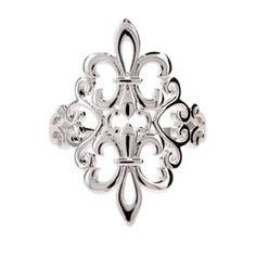 Sterling Silver Jewelry - Sterling Silver Filagree Fleur de Lis Ring  RG10456  Price:  $ 50