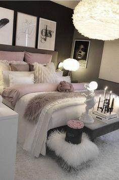 Wonderful And Elegant Bedroom Decor And Design Ideas - Bedroom Best Home Design Grey Bedroom Decor, Decor Room, Bedroom Furniture, Modern Bedroom, Master Bedroom, Contemporary Bedroom, Bedroom Decor Elegant, 1930s Bedroom, Quirky Bedroom