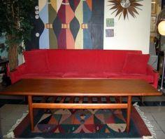 Solid Mid Century Modern Teak Coffee Table Teak Coffee Table, Mid-century Modern, Mid Century, Couch, Storage, Furniture, Home Decor, Purse Storage, Settee