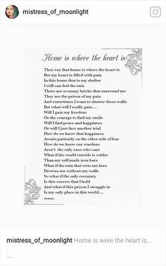 Where The Heart Is, My Heart, Shelter Me, Mistress, Prison, Poetry, Feelings, Sayings, Back Door Man