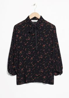 & Other Stories image 1 of Neck Tie Blouse in Black