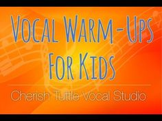 Vocal Warm-Ups for Kids - Cherish Tuttle Vocal Studio Singing Lessons For Kids, Vocal Lessons, Singing Tips, Piano Lessons, Warm Up For Kids, Choir Warm Ups, Voice Warm Ups, Vocal Warmups, Elementary Choir