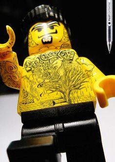 ゝ。Tattoo LEGO Minifigures:→ Grey Group came up with the wonderful creative idea for Pilot Extrafine, a new product by Pilot. Apparently it's impossible to get the tattoo LEGO minifigure back. However, it shouldn't be that hard to draw a tattoo on your own LEGO minifigure.。