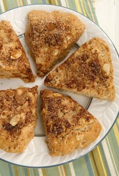 Make breakfast special with these sweet, nutty Cinnamon Almond Scones. - Bake or Break