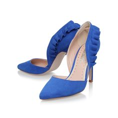Sheena Blue High Heel Court Shoes By Miss KG | Kurt Geiger