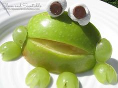 Clean & Scentsible: Apple Frogs. A fun and healthy treat for the kiddos!
