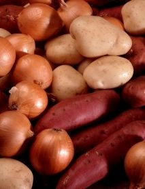 Quick Tip: Don't Store Potatoes Near Onions Both may spoil faster near each other!  Found this out the hard way with a fresh bag of Yukon gold potatoes.