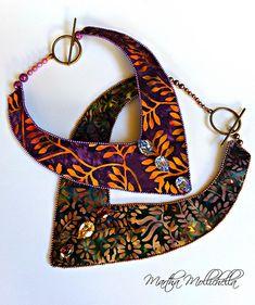 batik jewellery handmade in italy by Martha Mollichella batik fabric - Lacasinaditobia Lacasinaditobia