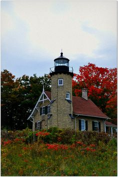 White River Light ... by KT of Lake Orion,Lake Michigan lighthouse