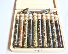 Set de regalo té Sampler 10 tubos de ensayo de hojas sueltas
