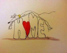 Nellie Doodles A4 print - Home