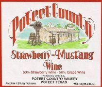 Poteet Country Winery Strawberry-Mustang Wine 750 mL #wine #winelabels #redwine #whitewine