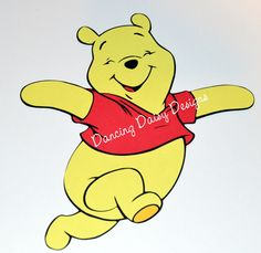 Winnie the Pooh Skipping Disney inspired paper pieced die cut for scrapbooking - pinned by pin4etsy.com