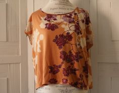 Anthropologie Blouse By ETT TWA Size S Rose Floral Boho Casual Cute