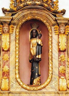 Wunderbare Schwarze Madonna    The Black Madonna in the Franciscan church in Beilstein, Germany. It is a copy of the statue of Our Lady of Loreto in Italy.