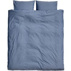 H&M Cotton chambray duvet set (£40) ❤ liked on Polyvore featuring home, bed & bath, bedding, duvet covers, dark blue, navy blue bedding, navy blue pillow cases, dark blue bedding, cotton duvet cover set and cotton bedding