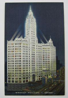 Chicago Illinois, Empire State Building, Ephemera, Postcards, Chewing Gum, Architecture, Spotlight, 1920s, Stationery
