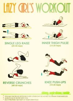 #fitness #workout lazy girl workout!
