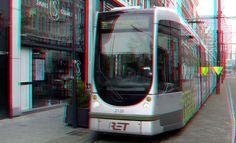 https://flic.kr/p/Nkdtvq | Tram op Van Oldenbarneveltstraat Rotterdam 3D | Tram op Van Oldenbarneveltstraat Rotterdam 3D anaglyph stereo red/cyan