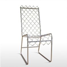 recycled chain link fence chair, design squish blog