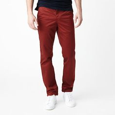 Burgundy Chinos by Norse Projects. Buy for $189 from Steven Alan