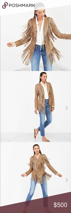 Reformation Fynn Jacket *sold out* Suede Leather Jacket with fringe made from surplus leather New without tags...there are a couple small marks on the INSIDE but nothing on the outside! Reformation Jackets & Coats