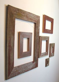 """Barnwood Frame - 5"""" x 7"""" Authentic Gray Old Barn Wood Seasoned by Nature! Vintage, Rustic, Primitive, Distressed, Antique, Reclaimed Frames"""
