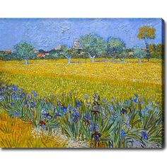 Display this beautiful, ready-to-hang, rendition of a Vincent van Gogh masterpiece in your home. This gallery-wrapped canvas art features vibrant colors and exquisite details, making it the perfect complement to your contemporary decor.