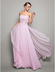 Vestido Georgette de noche con escote corazón @ Vestidos de Fiesta Baratos Blog