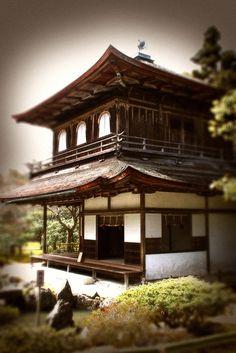 "Ginkaku-ji (銀閣寺 Ginkaku-ji?), the ""Temple of the Silver Pavilion,"" is a Zen temple in the Sakyo ward of Kyoto, Japan. (Wikipedia)"
