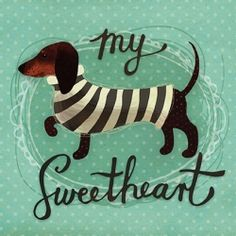 Tacskó - my sweetheart Wiener Dogs, A5, My Works, Puppy Love, Dachshund, Dinosaur Stuffed Animal, Snoopy, Puppies, Illustrations