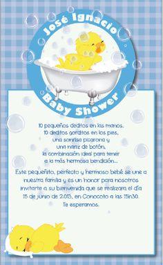 Invitacion baby shower, #duckbabyshower