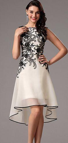 eDressit Black Lace Applique Cocktail Dress Party Dress