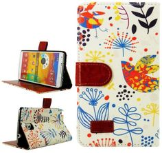 myLife Swiss Coffee White and Colorful Nature {Boho Design} Faux Leather (Card, Cash and ID Holder + Magnetic Closing) Slim Wallet for Galax...