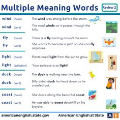 Multiple Meaning Words: Review 2