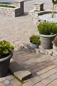 Beleggningstein kombinert med en liten mur fra Aaltvedt Stein. Walled Garden, Garden Steps, Paths, Stairs, Gardens, Exterior, Outdoor Decor, Flowers, Ideas