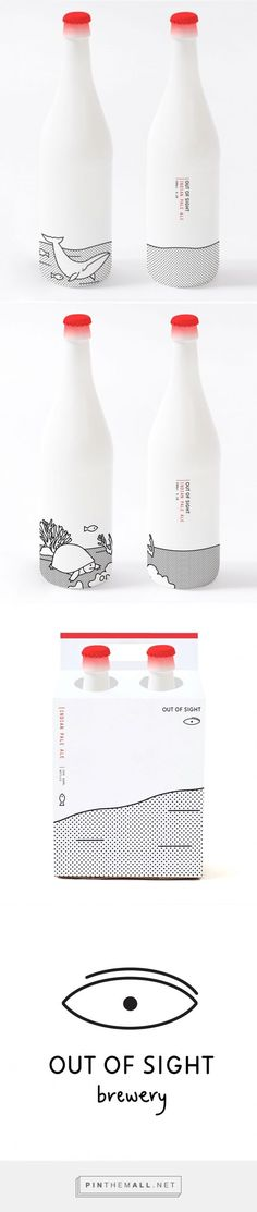 Out of Sight via Oh Beautiful Beer designed by Joanna Copperman curated by Packaging Diva PD. One for the packaging smile file : ) (Beer Bottle) Cool Packaging, Beverage Packaging, Bottle Packaging, Brand Packaging, Design Packaging, Coffee Packaging, Fruit Packaging, Packaging Stickers, Beauty Packaging