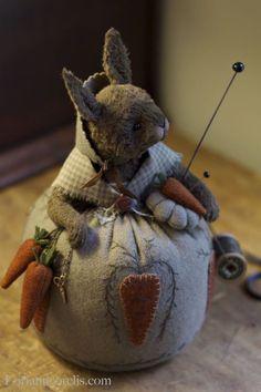 "herminehesse: "" Bunny pin cushion """