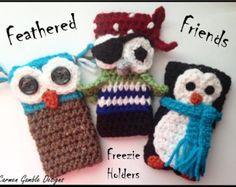 Items similar to Feathered Friends Freezie Holders Crochet Pattern on Etsy Crochet Gifts, Free Crochet, Crochet Bags, Cool Patterns, Crochet Patterns, Crochet Ideas, Little Finger Got, Crochet Chicken, Freeze Pops