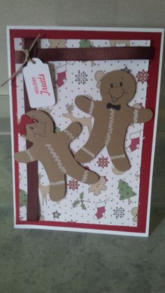Christmas card made with the cricut and peachy keen stamps