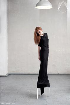 Sense.Of.Simplicity Dress: ELENA CIUPRINA  Photo: Marcin Urban Photography Models: Zuzanna Karcz   Kuba Duss  Production: Sense.Of.Simplicity Style: Kazik Stolarczyk Stylist   Paulina Szlachta — at BAL. Black Dress is available here: http://elenaciuprina.com/collections/all/products/black-long-dress